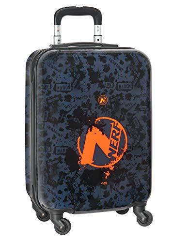 Trolley Cabina 20   Maleta Safta con Ruedas y Candado de Seguridad de Nerf, Azul Marino, 345x200x550mm