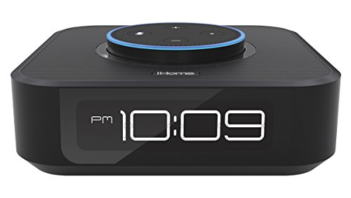 iHome Alexa - Orologio da comodino compatibile con Amazon Dot Docking Station...