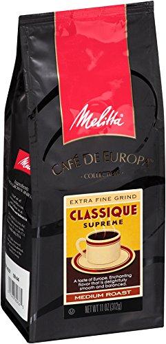 Melitta Café de Europa Classique Medium Roast Ground Coffee, 11 Ounce (Pack of 3)