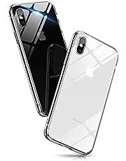 Aunote iPhoneSE2/8/7/8Plus/7Plus/XS/X/XR/XsMax/11/11Pro/11promax/12/12Pro/12mini/12promax ケース 背面クリア
