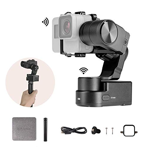 FeiyuTech Feiyu WG2X 3-axis GoPro Gimbal Splash-Proof Action Camera Stabilizer for GoPro Hero 7 6 5 4 Sony RX0 YI 4K SJCAM AEE Action Camera, with Mini Tripod and GoPro Session Adapter