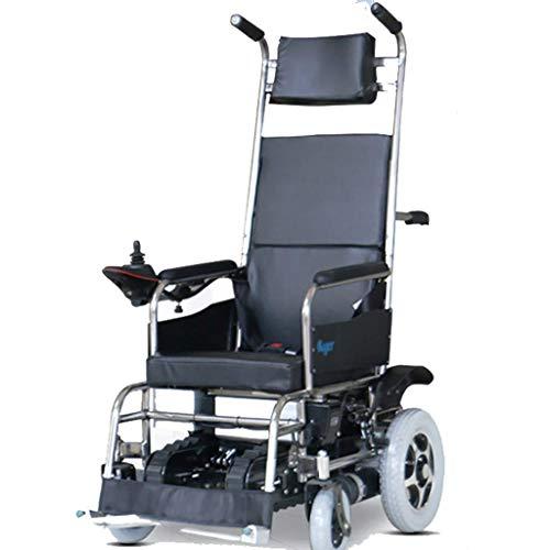 DLY Älterer Untauglicher Elektrischer Rollstuhl, Elektrischer Treppensteigen-Rollstuhl-Alter Mann auf und ab Der Treppe, die Auto-Faltende Helle Raupe Klettert