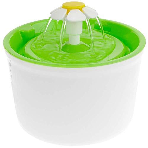 PrimeMatik - Bebedero para Perros y Gatos 2.5L Verde. Fuente eléctrica con dispensador de Agua filtrada para Mascotas