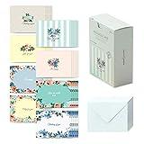 モノライク メッセージカード ミニカード シークレットガーデン Message card Secret garden - 40枚封筒20枚セットミニサイズデザイン文具お祝いのカード感謝カード