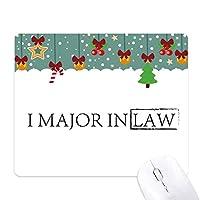 私は法律の主要な引用 ゲーム用スライドゴムのマウスパッドクリスマス