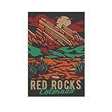 ASDWS Red Rocks Colorado Leinwand-Kunst-Poster und