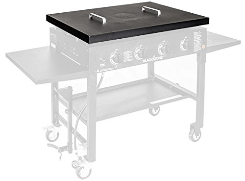 "Blackstone 5004 Hard Top Lid with Handle Outdoor Cover Powder Coated Steel Lightweight Durable Perfect Accessories to Protect Fits 36"" Front or Rear Grease Griddle, 36 Inch, Black"