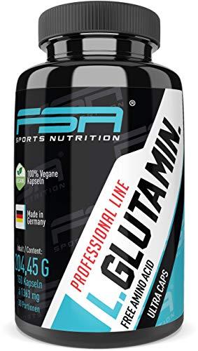 L-Glutamin 150 Kapseln, 1000 mg pro Kapsel, reine Aminosäure, Vegan - Made in Germany - FSA Nutrition