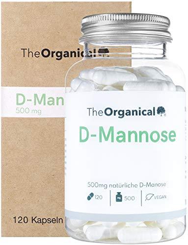 Einführungspreis (NEU): TheOrganical® D Mannose Kapseln | 120 Kapseln mit 500mg natürlicher D-Mannose | Hergestellt in Hamburg