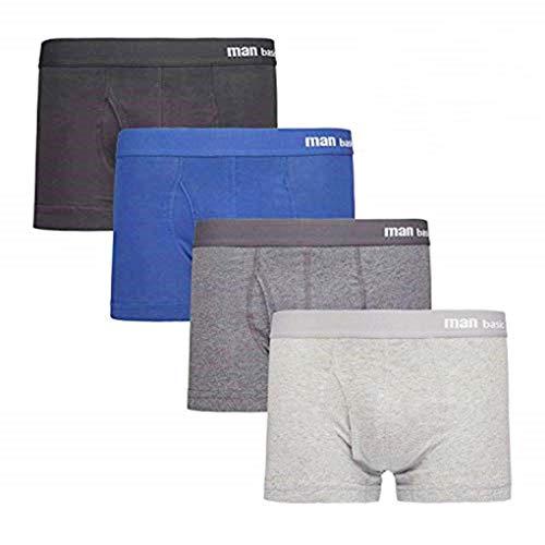 Acexy Herren Boxershorts, 4er Pack Unterwäsche/Boxershorts Basic Trunk Unterhosen Männer (4 Pack, XXL)