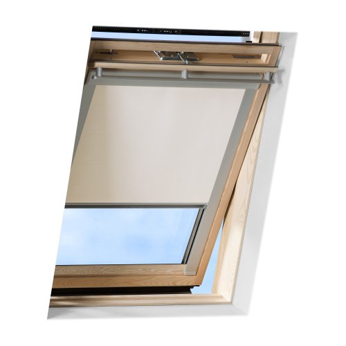 VICTORIA M Dachfensterrollo passend für Velux Dachfenster/verdunkelndes Rollo/GGL 306, Creme