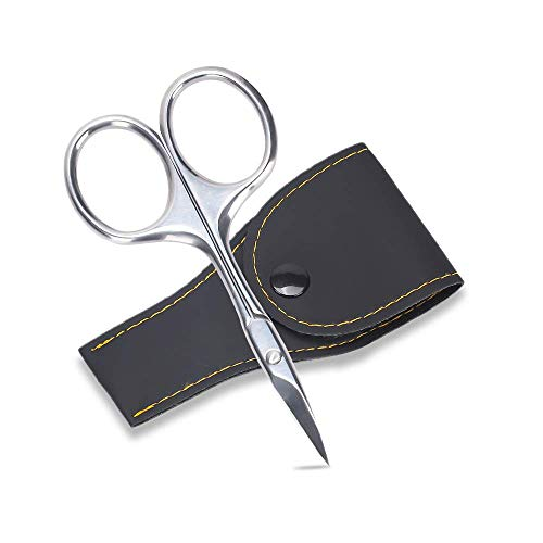 Profi Nagelschere - Extra scharfe Premium Nagelschere Inklusive Etui Kürzen von Dünnen Naturnägeln und zum Entfernen Abstehender Nagelhaut, Rostfrei und langlebig, auch Linkshänder geeignet