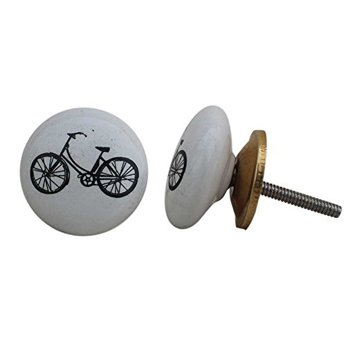 IndianShelf 20 Pièce Lot de faite à la main en céramique Multicolore de vélo Support de boutons de porte Commode à partir Poignée de tiroir, Multicolor , Knobs \