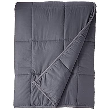 ZonLi Premium Weighted Blanket for Adults Women, Men, Children | Great for Insomnia, Autism, ADHD, Stress and Anxiety Relief | Fit King Sized Bed | Grey, 60'x80'', 20lbs