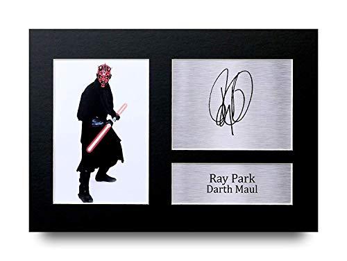 HWC Trading Ray Park A4 Sin Marco Regalo De Visualización De Fotos De Impresión De Imagen Impresa Autógrafo Firmado por Star Wars Darth Maul Los Aficionados Al Cine
