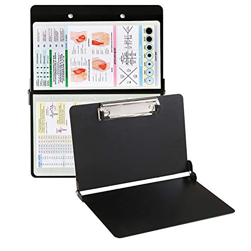 Airbay Nursing Clipboard Foldable (Metal) with Storage and Quick Access Medical References Folding Board for Nurses, Doctors, Medical Students, Nursing Edition AIRBAY(Black)