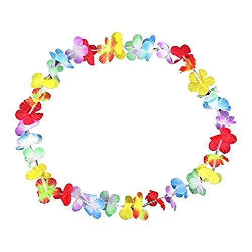 Schramm® 10er Pack Blumenketten Multicolor Bunt Blumenkette Hawaiikette Hawaiiketten