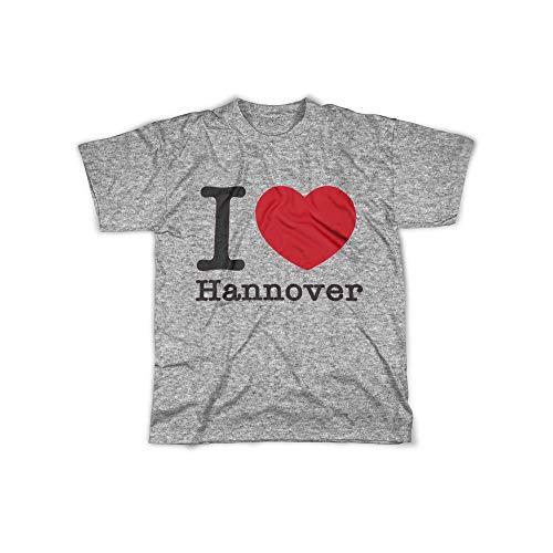 licaso Herren T-Shirt mit I Love Hannover Aufdruck in Grey Gr. L I Love Hannover Design Top Shirt Herren Basic 100{2d8c574765d53e9f03bc6528f840a6e521e85917b332284fafa2aebf4892168d} Baumwolle Kurzarm
