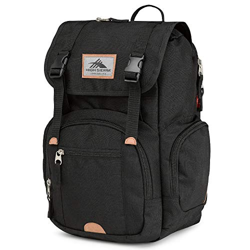 High Sierra Emmett 2 Premium TECHSPOT Backpack for High School and College StudentsBlack