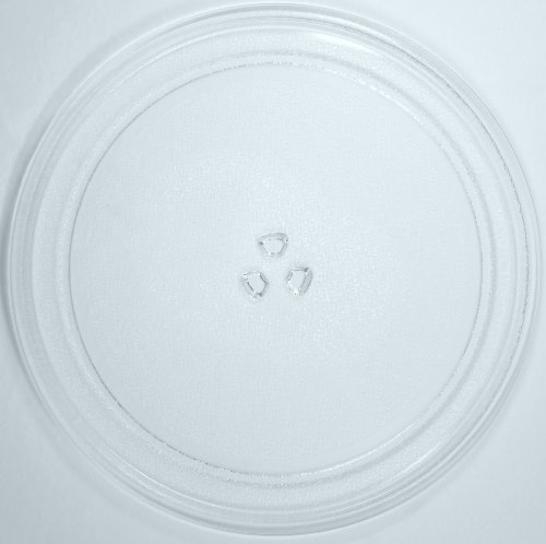 Mikrowellenteller / Drehteller / Glasteller für Mikrowelle # ersetzt Germatic Mikrowellenteller # Durchmesser Ø 32,5 cm / 325 mm # Ersatzteller # Ersatzteil für die Mikrowelle # Ersatz-Drehteller # OHNE Drehring # OHNE Drehkreuz # OHNE Mitnehmer