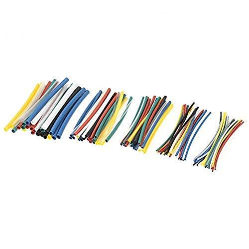 Schrumpfschlauch, isolierend, Schrumpfschlauch, 2:1 Draht, verschiedene Farben, 140 Stück