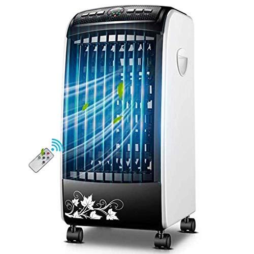 IUHUA Ventilador de Aire Acondicionado, Enfriador de Aire para Espacios personales, humidificador, purificador, Enfriador evaporativo 3 en 1 con Control Remoto, 3 velocidades, Temporizador