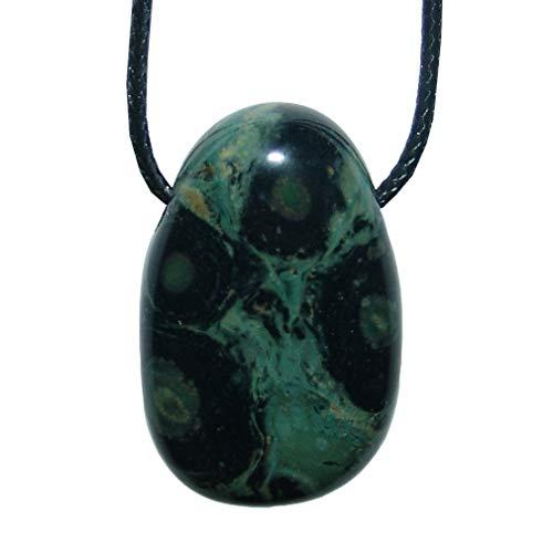 Eldarit Nebulastein gebohrt als Anhänger Trommelstein ca. 40 x 25 mm gute Steinqualität und Polierung.(3464)
