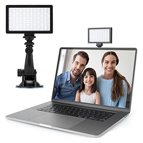 Videokonferenz Licht, Fotolicht, Kameralicht, 2500K-6500K Videolicht 6.6w, CRI 95+, Dimmbar und Wiederaufladbar, Für Webcam, Make-up, Selfie, Meetings, Home Office Gadgets