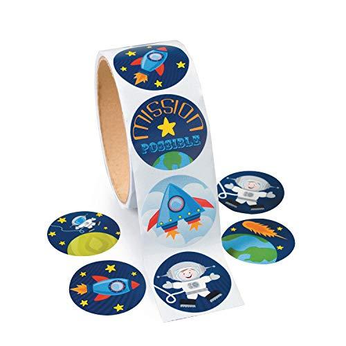 cama24com Weltraum Space Raketen Aufkleber Sticker 100 Stück Mitgebsel Mottoparty mit Palandi® Sticker