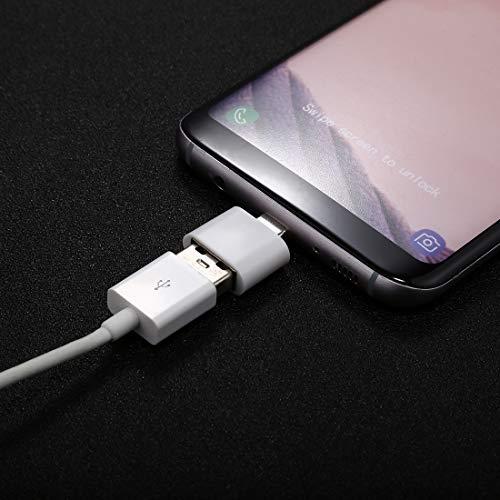 RUNNA ABS Shell USB 2.0 al Conector Adaptador Mini OTG USB-C/Type-C, para Galaxy S8 y S8 + / LG G6 / Huawei P10 y P10 Plus/OEPLUS 5 y Otros teléfonos Inteligentes