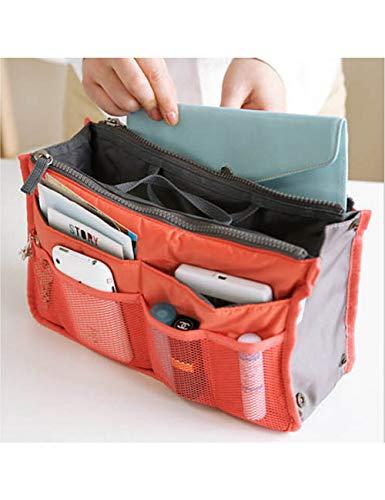 XIEJIA Boîte Outdoor Girl Makeup Bag Women Cosmetic Bag Wash Toiletry Make Up Organizer Storage Travel Kit Bag Multi Pocket Ladies Bag, Orange
