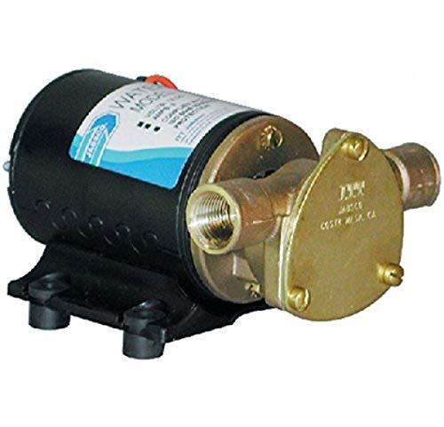 "Jabsco 18660-0123 Marine Water Puppy Bilge/Sump Flexible Impeller Pump 6.3 GPM, 12-Volt, 15-Amp Non-CE, 1/2"" NPT Ports, Nitrile Impeller"