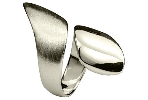 SILBERMOOS XL XXL Ringe in großen Größen Damenring Spirale Spiralring offen 925 Sterling Silber Größe 64, 66, 68, 70, Größe:64 (20.4)