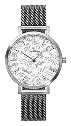 ORPHELIA Damen Analog Quarz Uhr mit Edelstahl Armband OR12803