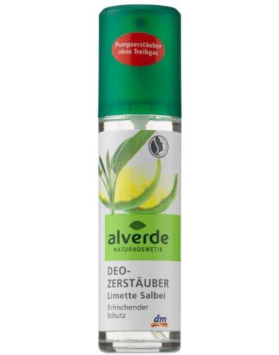 Alverde Deo Zerstäuber Limette Salbei , 2er Pack (2 x 75 ml)