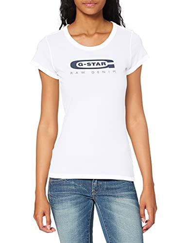 G-STAR RAW Damen T-Shirt Graphic 20 Slim R TWmn s/s, Weiß (White 110), X-Small