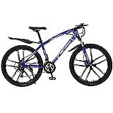 MENG 26'Adultos de Ruedas Bicicleta de Montaña 21/24/27 Velocidad Suspensión Completa Bicicleta de Montaña Adecuado para Hombres Y Mujeres Entusiastas de Ciclismo (Tamaño: 21 Velocidad, Color: Rojo)