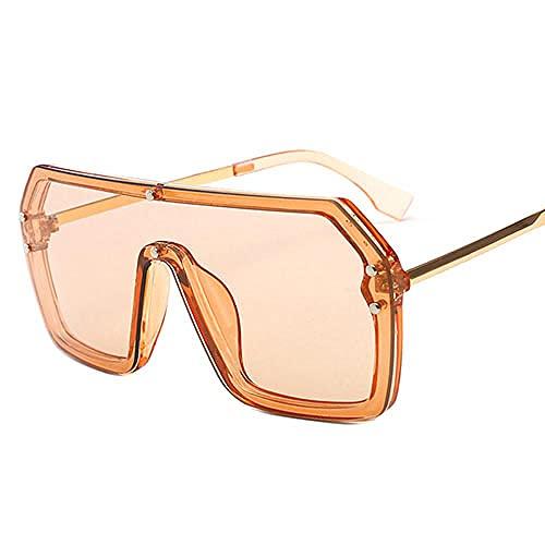 Gafas de sol de gran tamaño Sexy de una pieza Gafas de sol Retro Mujer Hombre Cuadrado Escudo Gafas de sol Conducción, Golf, Pesca, Voleibol de Playa, Vela