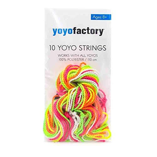YOYO FACTORY YoyoFactory Yo-Yo Strings - 10pcs Pack (100% Polyester,...