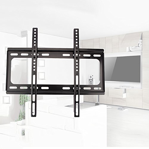 TV Wall Mount, Normal Full Motion TV LED LCD Wall Stand Bracket Plasma Screen TV for Most 37-70/26-55 inch Flat Screen TV Black (Normal)