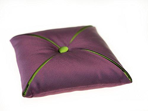 Kissen für Klangschalen aus Satin ca. 15 x 15 cm -9965- (violett/grün) in verschiedenen Farben erhältlich