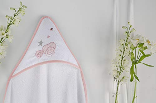 PIELSA BABY | Badetuch | Badetuch | Duschtuch | Badetuch | Baby Monate | Badetuch | Winter | weiche Bademantel | Hygienische Badetuch | Farbe Rosa | Größe 100 x 100 cm