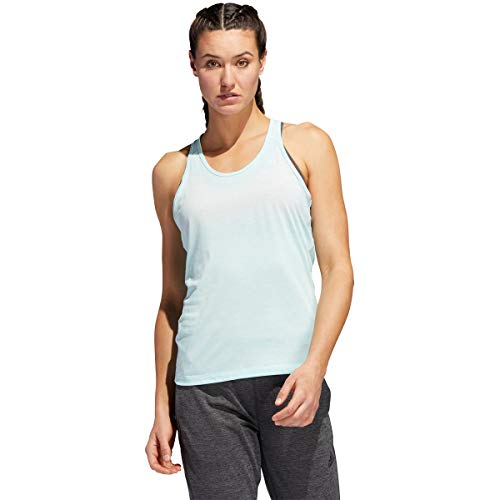 Adidas Prime 3-stripes tanktop voor dames, mint, zilver shirts