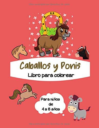 Libro para colorear Caballos y Ponis para Niños de 4 a 8 años