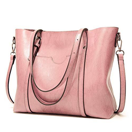 Pahajim Womens Leather Purses and Handbags Top Handle Satchel Bags Tote Bags Tote Purses for Women
