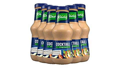 Knorr Schlemmersauce Cocktail (cremig-mild mit feiner Whisky Note), 6er Pack (6 x 250 ml)