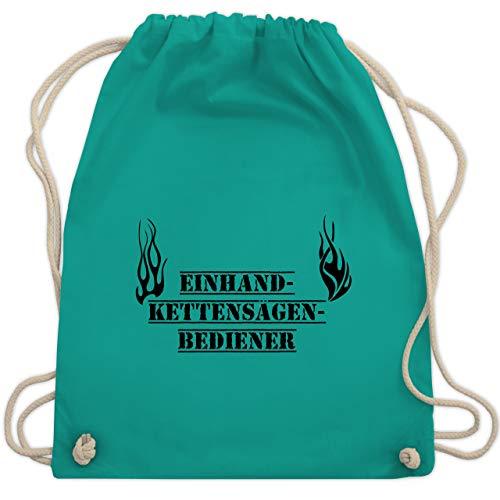 Shirtracer Feuerwehr - Einhand-Kettensägen-Bediener Feuerwehr - Unisize - Türkis - kettensägen - WM110 - Turnbeutel und Stoffbeutel aus Baumwolle