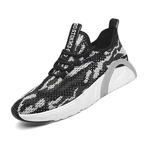 Cebbay Homme Chaussures De Course Mesh Lace Up Casual Chaussures De Sport Respirant Léger Fitness Chaussures Décontractées Jogger Sneaker(Noir,43)