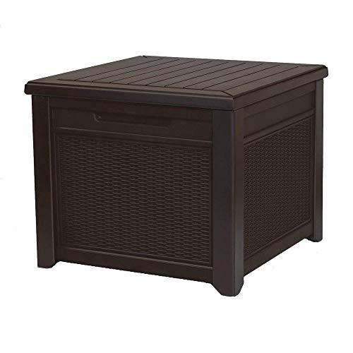 Keter - Tavolo da esterno in resina rattan, 1 confezione da 1 pezzo, colore: marrone