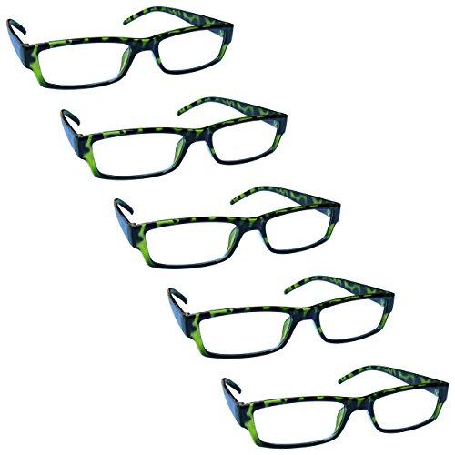 2,00-58 Gr The Reading Glasses Company Porpora E Rosa Tartaruga Leggero Lettori Valore 2 Pacco Uomo Donna Rr32-54